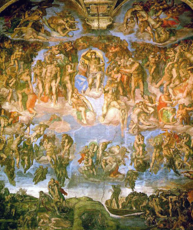 michelangelos last judgment essay Read this full essay on michelangelo's the last judgement i stayed up all  night doing this paper i hate it a bit informal, could use more comparison to.