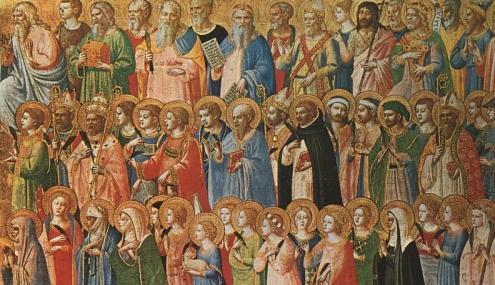 Communion Of Saints Icon