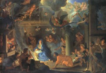 shepherds at manger