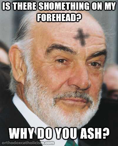 sean connery ash wednesday